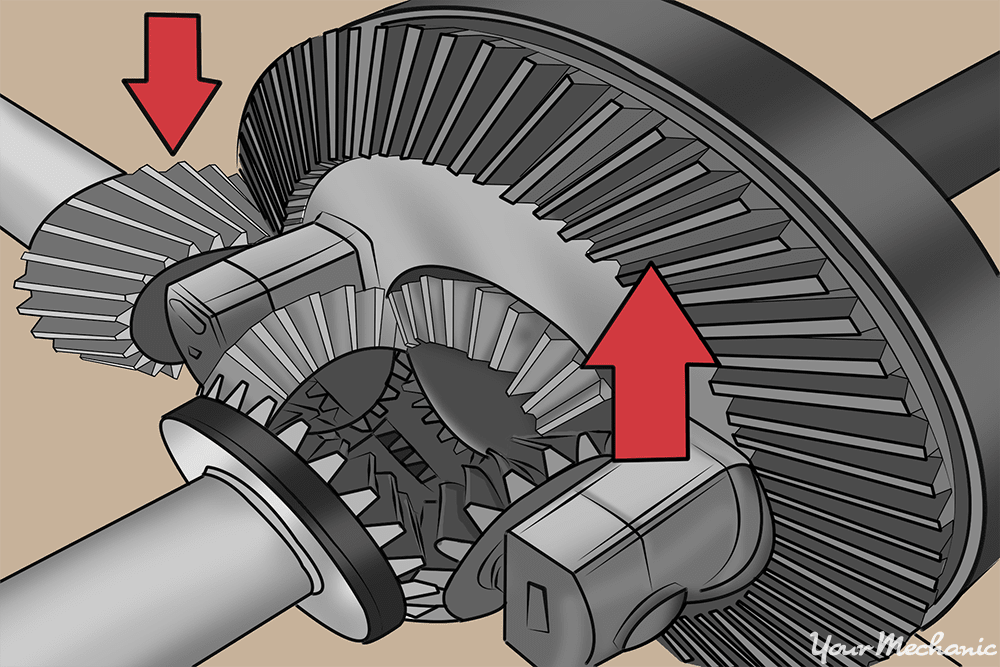 set of gears pointing out the pinion