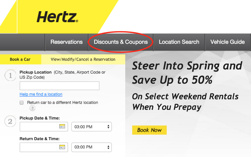 hertz homepage