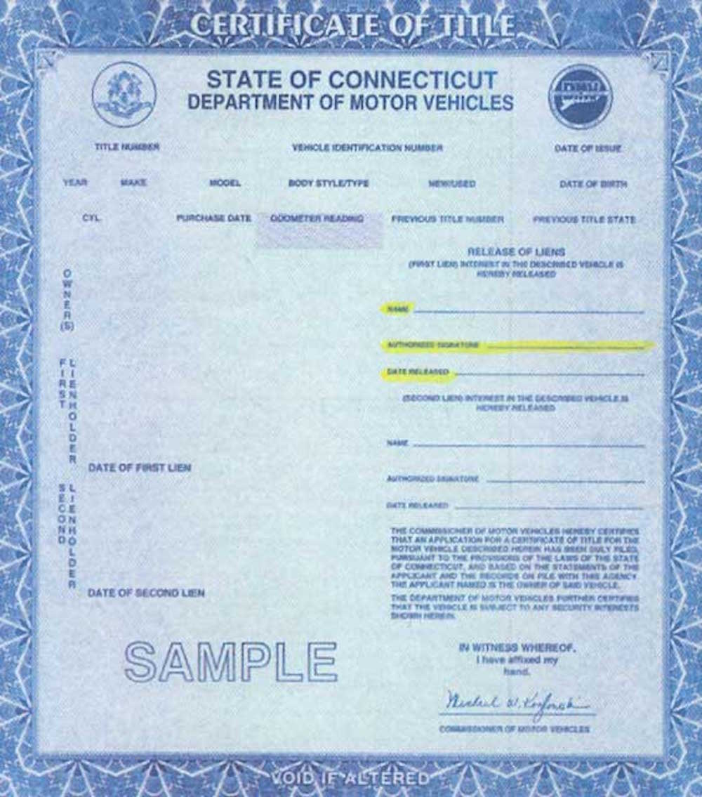free check car title for lien