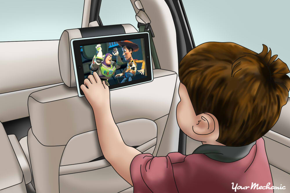 find a car video system with headrest monitors