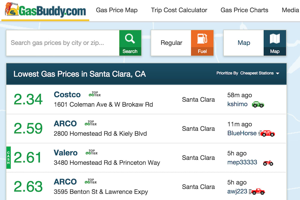 gas buddy home page