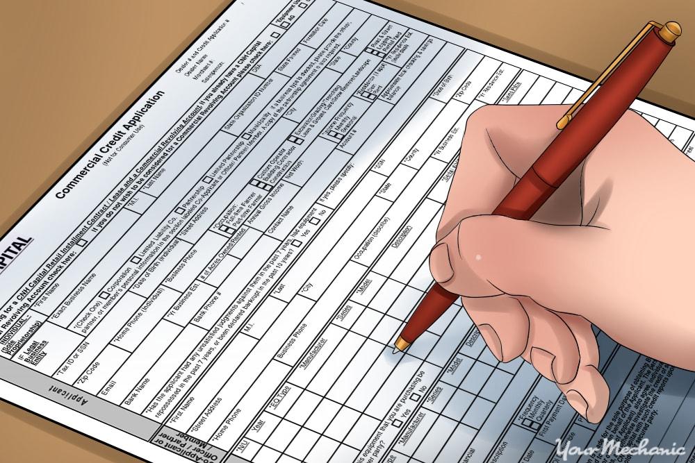 filling otu credit card application