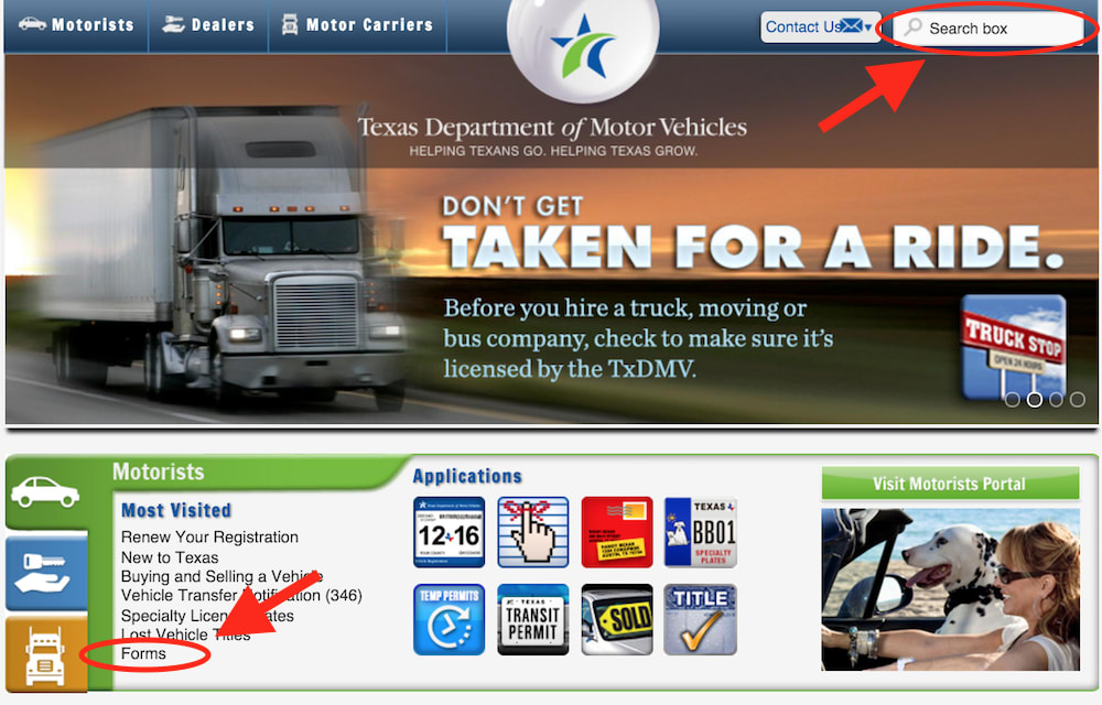 texas dmv website