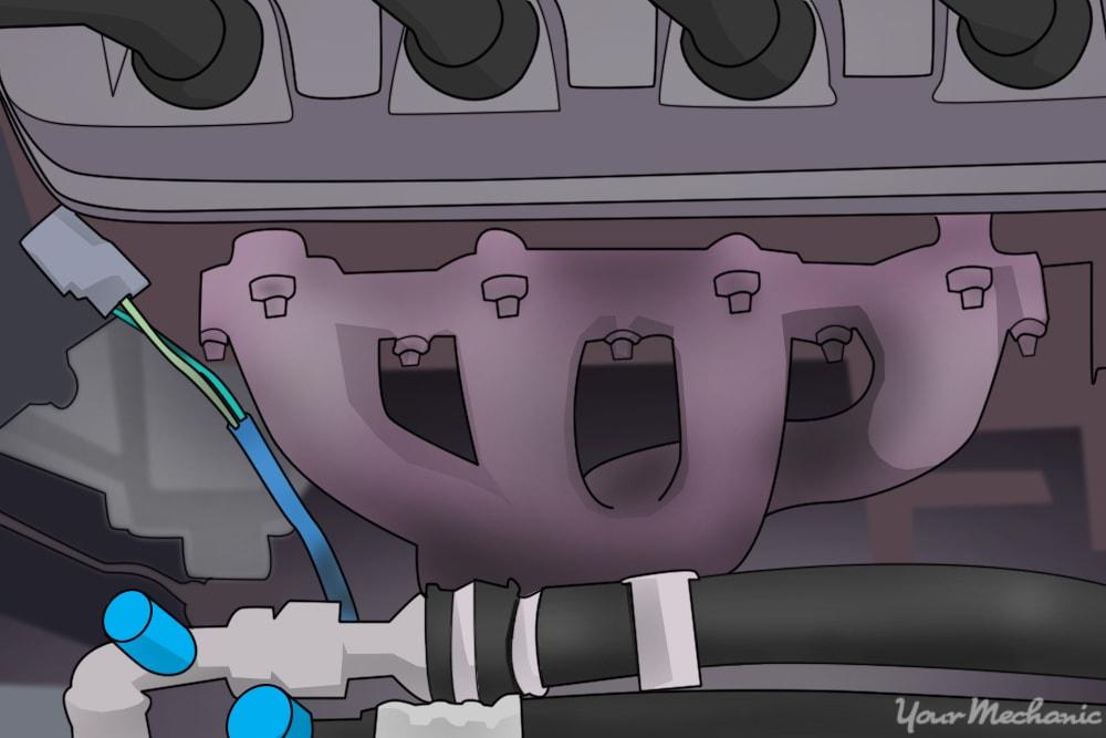 exhaust manifold under hood