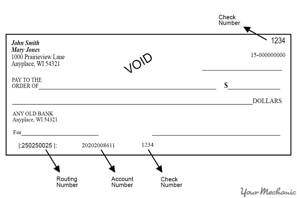 voided check