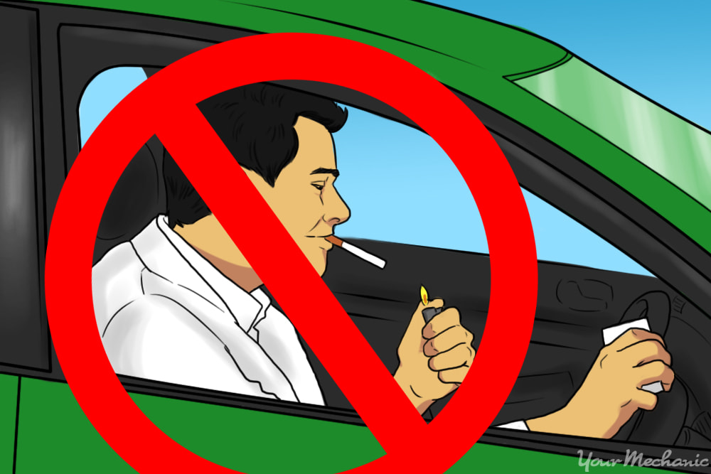no smoking in car