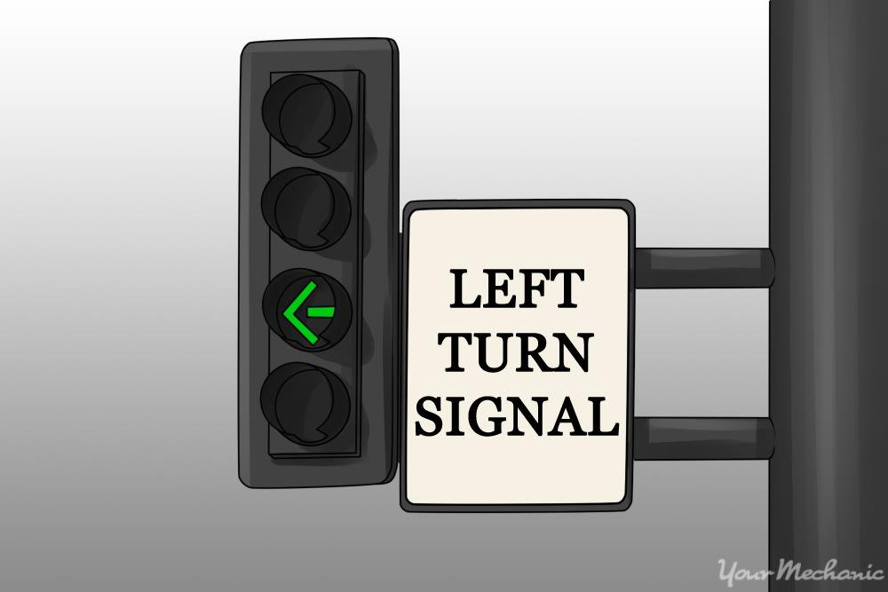 left turn arrow at stop light