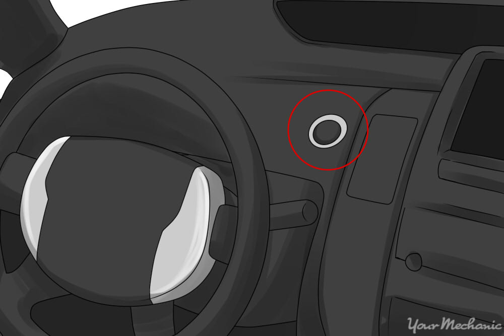 start engine button circled
