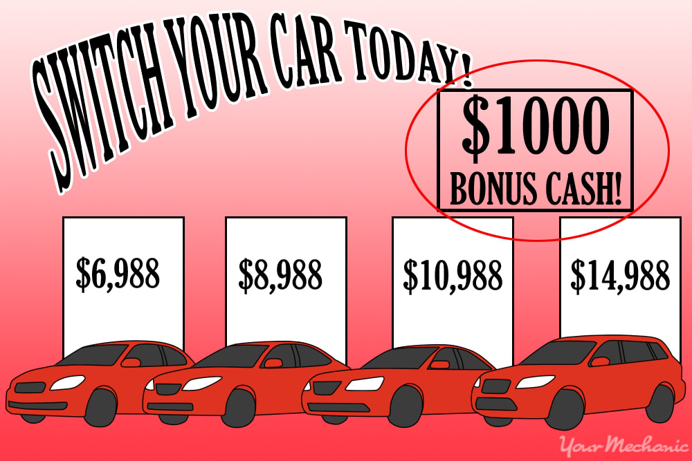 sample car ad with number of vehicles and price