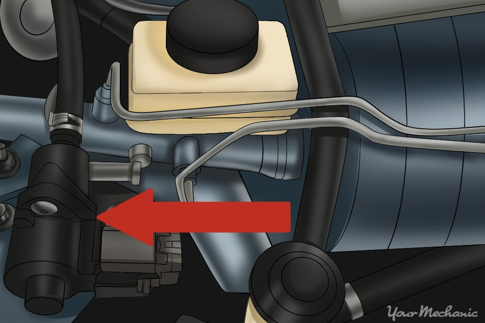 location of the canister purge solenoid