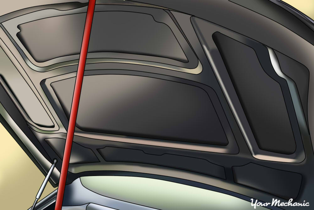 How to Replace Hood Support Struts | YourMechanic Advice