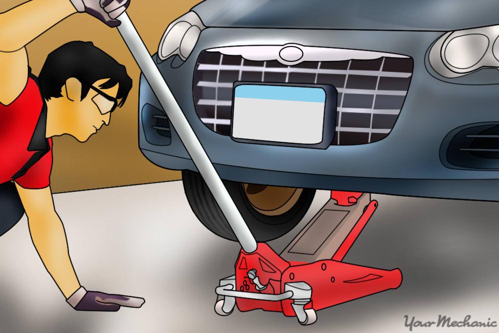 jacking up the vehicle