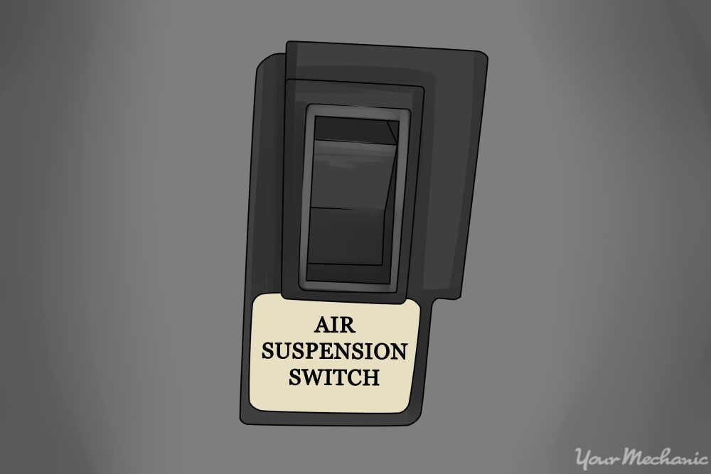 air suspension switch on a vehicle