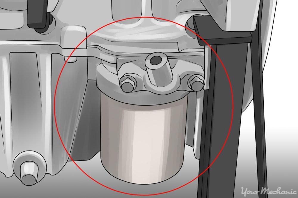 oil pressure sensor mounted in engine blow
