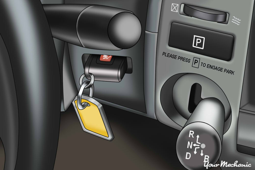 prius key going into a slot