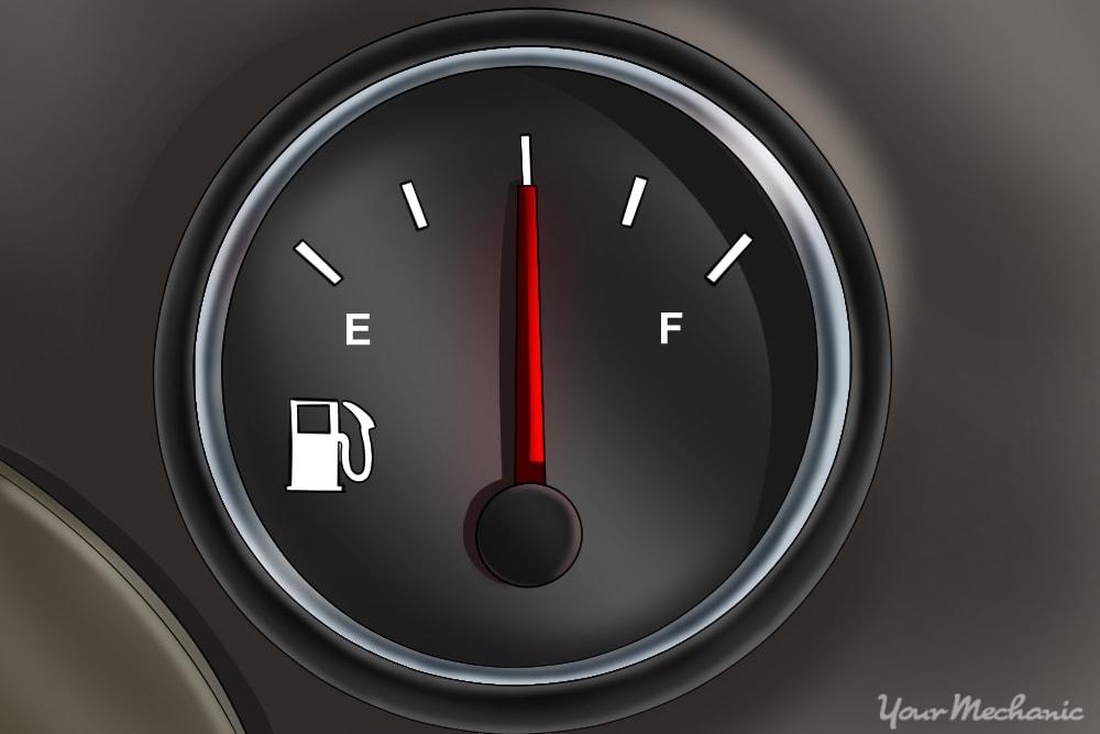 fuel gauge on instrument cluster