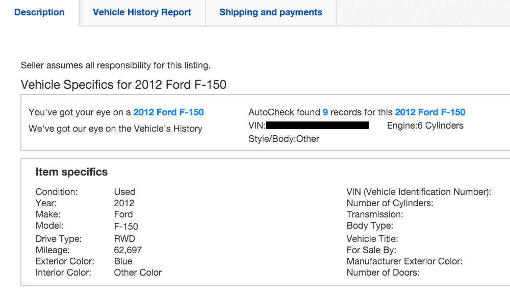buy a car on ebay motors