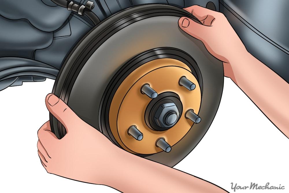 brake rotor being removed