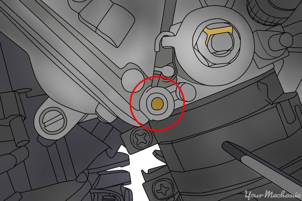 flathead idle adjustment screw