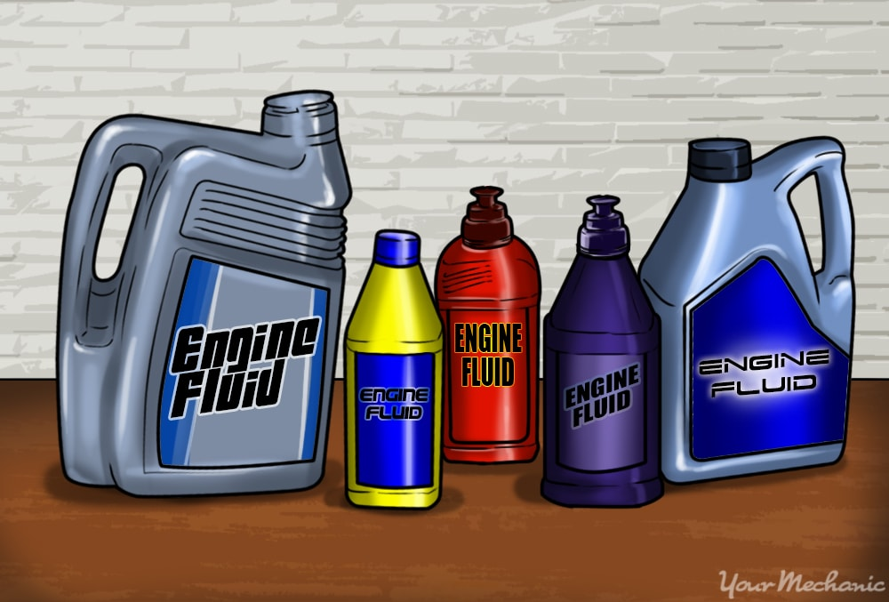 different fluid containers
