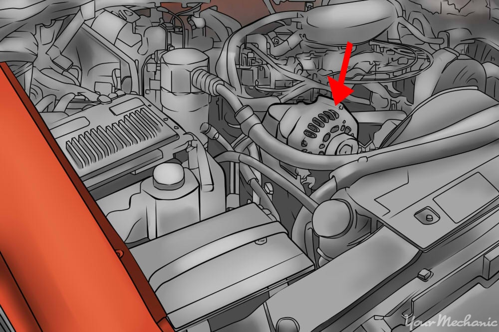 alternator being pointed out