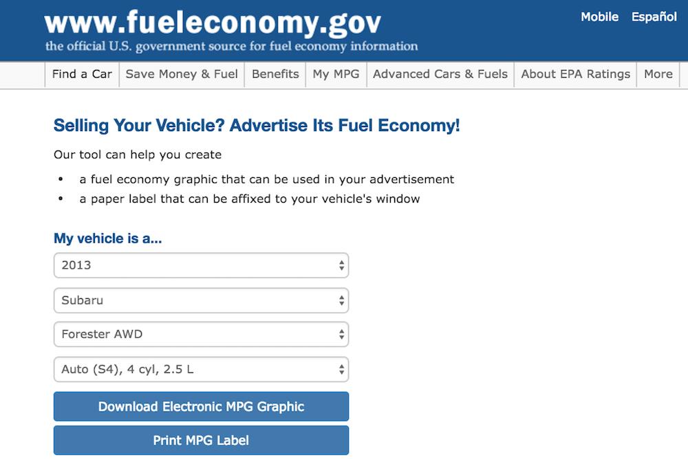 epa fuel economy
