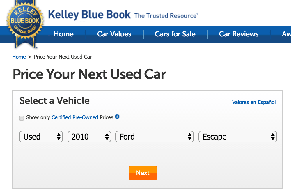 Kbb Used Car Value Calculator >> How To Determine The Value Of A Car Yourmechanic Advice