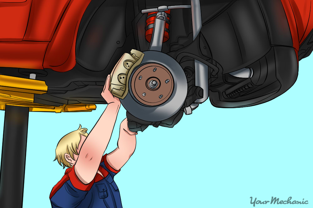 technician removing the old suspension