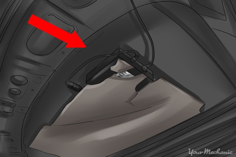 lojack system in back seat pointed out