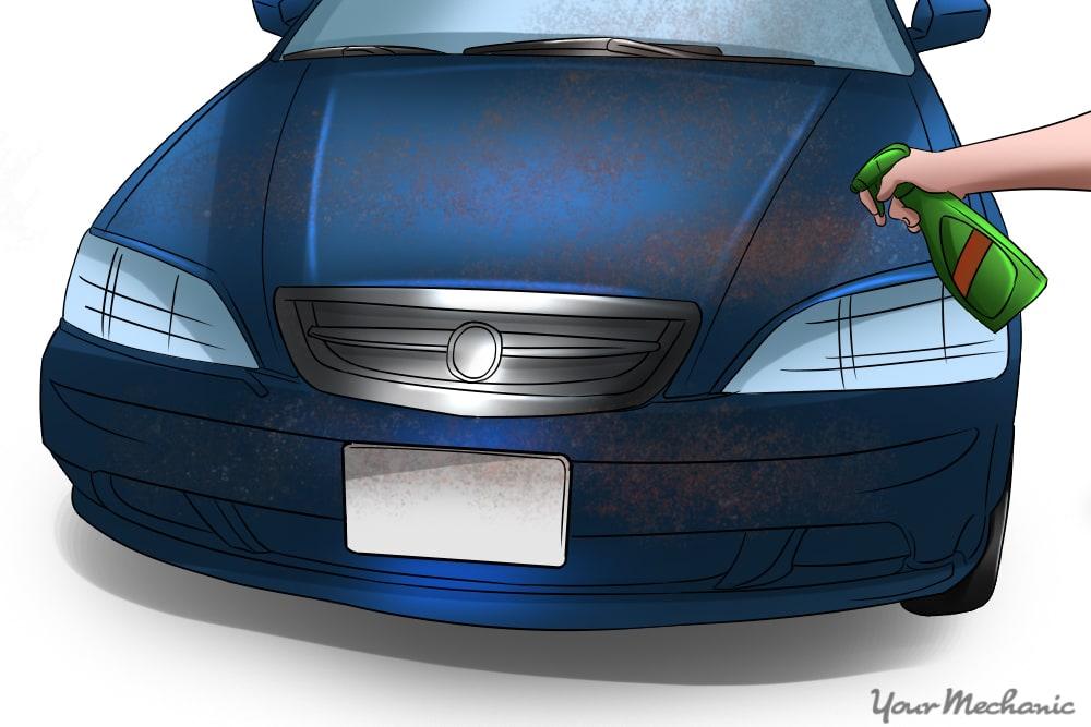 turtle wax being put onto car