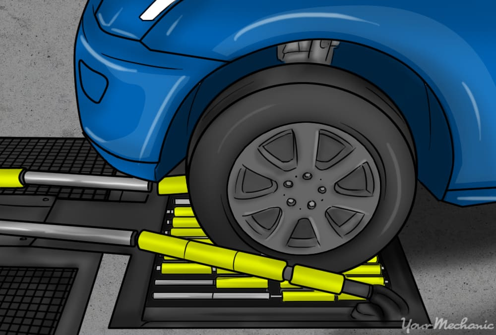 car wheels being connected onto conveyer system