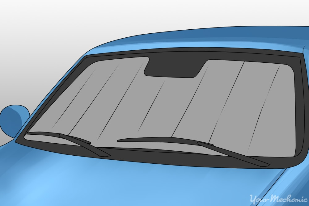 sunshade covering window