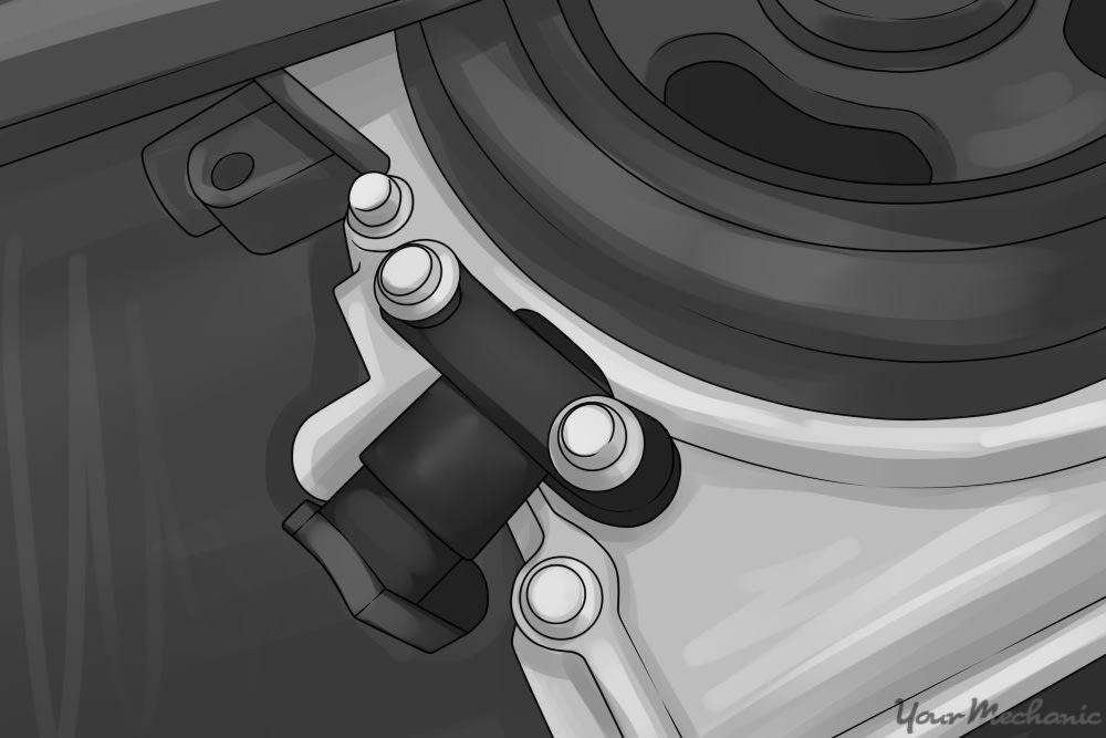 sensor located near crank pulley
