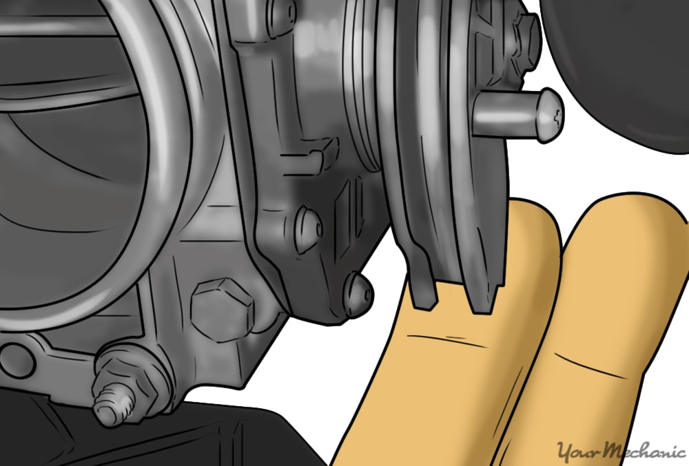 disconnecting the throttle cable at the throttle body