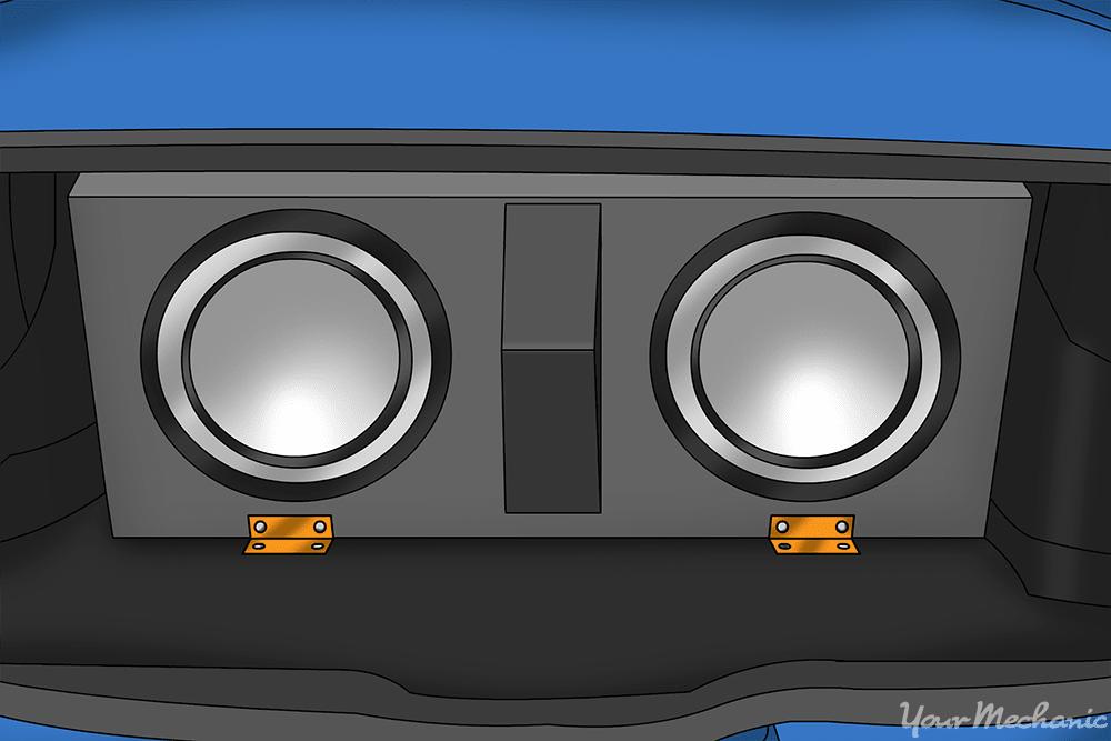 l brackets on speaker box