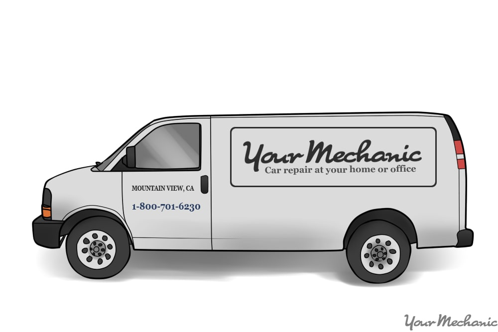 side ofvan with logo outlined