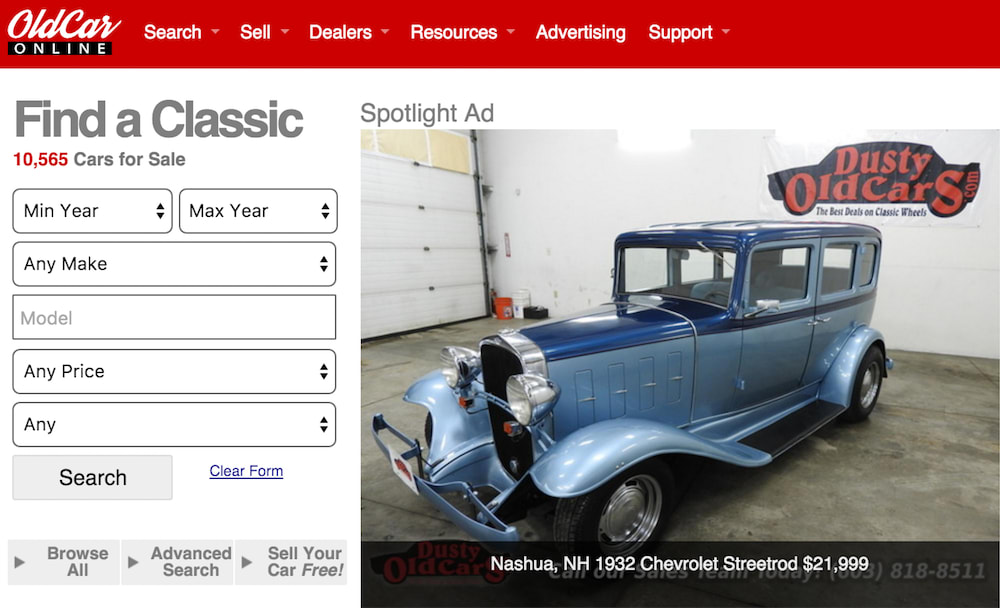 oldcar site for classic cars