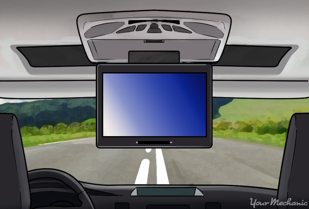 roof mounted dvd player