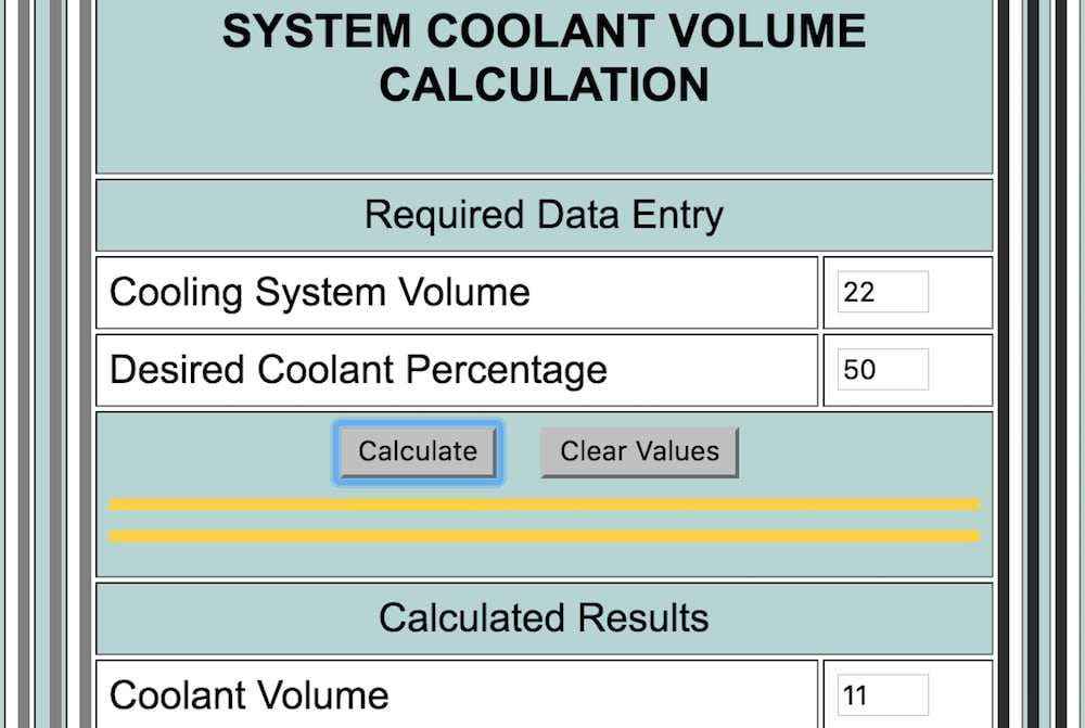 How To Calculate The Concentration Of Coolant In A Car Yourmechanic Advice