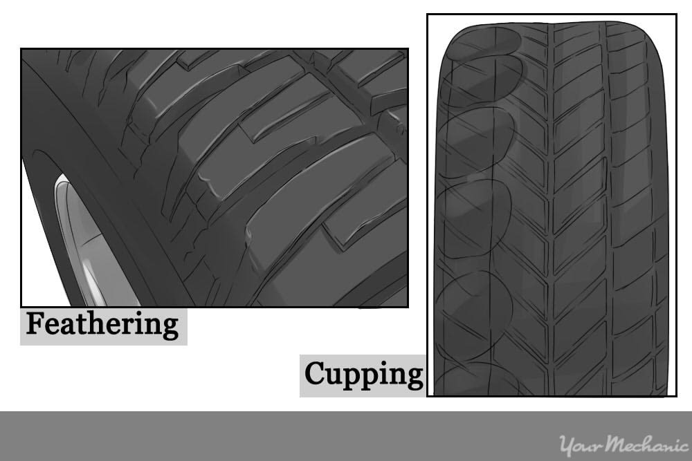 tires showing feathering and cupping