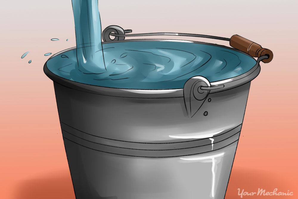 bucket of water