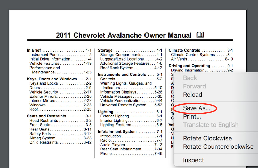 How To Download A Chevy Owner S Manual Yourmechanic Advice