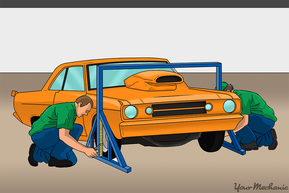 race officials inspecting vehicles