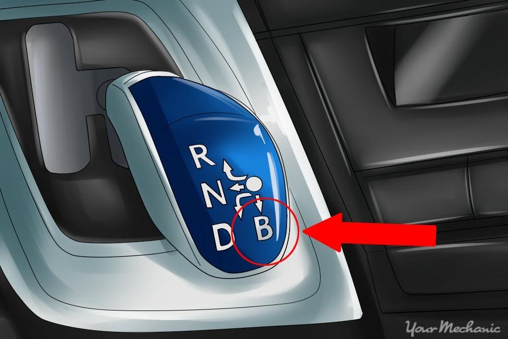 brake mode circled