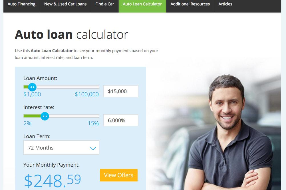 lending tree auto calculater