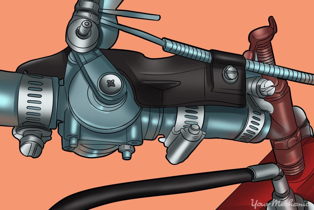 close up of heater control valve
