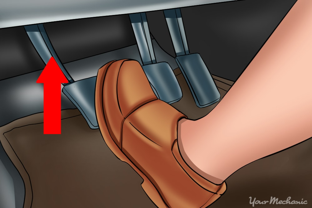 foot releasing clutch pedal