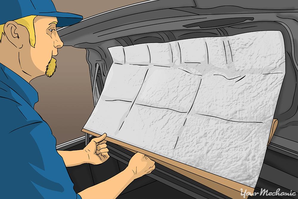 installing sound dampener in trunk