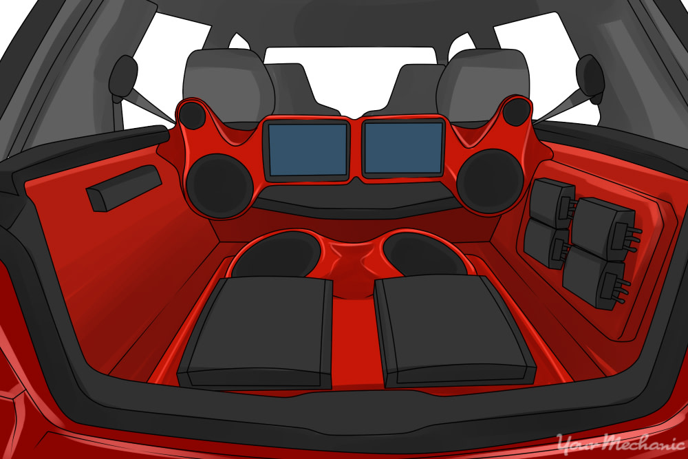 red subwoofers