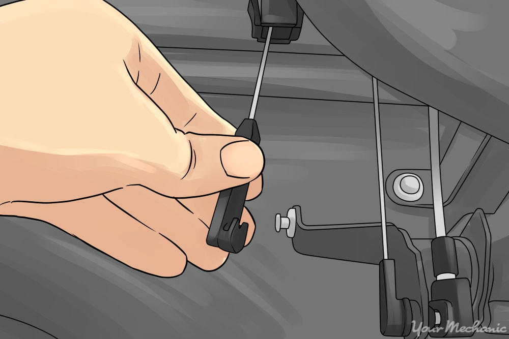 How to Replace a Car Kickdown Cable 4